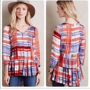 ANTHROPOLOGIE MAEVE L tiered top! EUC